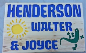 Henderson Back Porch Carved Wood Sign A