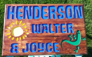 Henderson Back Porch Carved Wood Sign B