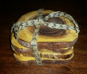 Mesquite Wood Coaster Sets-2