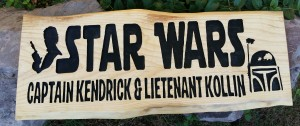 Star.Wars.Custom.Carved.Wood.Sign.kids.room 1