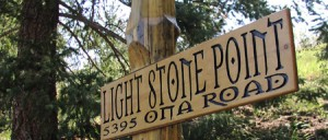 Light Stone Point - Carved wood point of interest park and address
