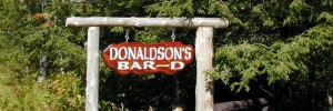 Donaldson Bar-D Ranch - Carved Wood Ranch Cabin Sign.